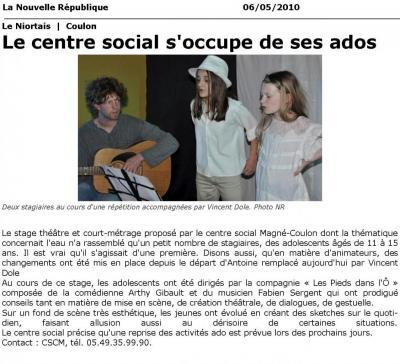 2010-05-06 - Article de Presse - ThéâtrÔ - Vidéo