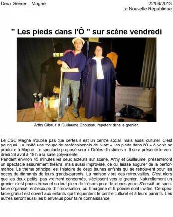 2013-04-22 - Article de Presse - DrÔles d'Histoires